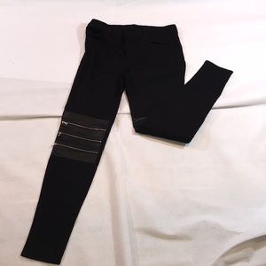 J Brand REAL LEATHER ZIP KNEE MOTO JEANS NWT